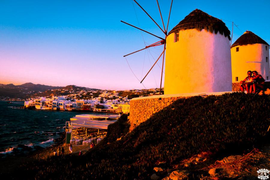 mykonos cyclades grece moulin